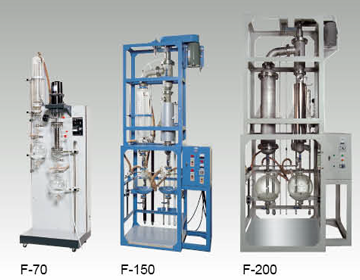 Continuous thin film evaporator
